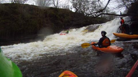 Paddlers on the Tees